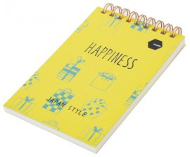 Sổ lò xo Twin Memopad HAPPINESS Motto A6 120tr