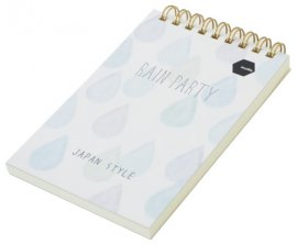 Sổ lò xo Twin Memopad RAIN PARTY Motto A6 120tr